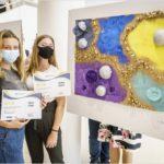 Úspěch našich žáků na výtvarně fyzikálním projektu v Praze